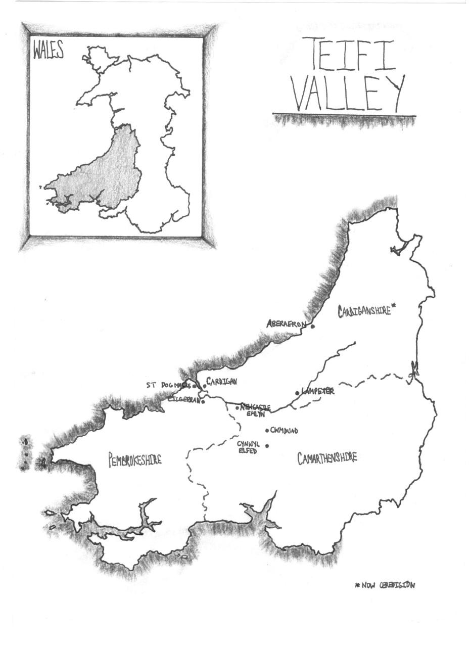 Teifi Valley map