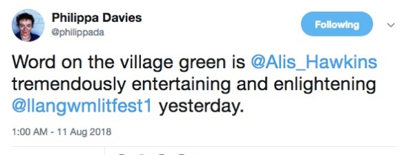 Pippa Davies' tweet