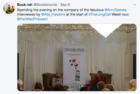 Bookish event on Twitter