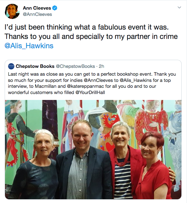 Chepstow Ann Cleeves event